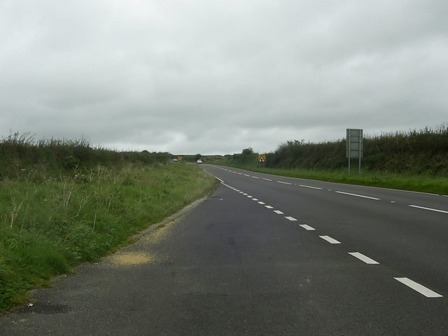 The A40 between Letterston and Wolf's Castle