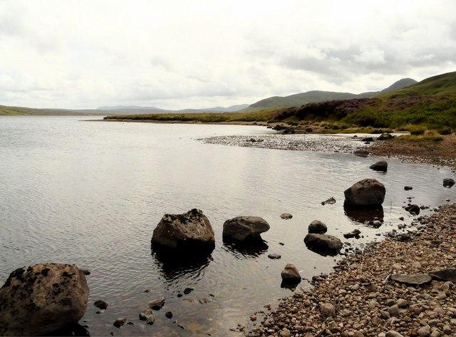Loch Loyal, burn mouth delta