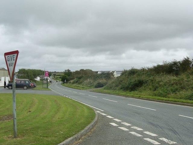 The A487  through Croes-Goch