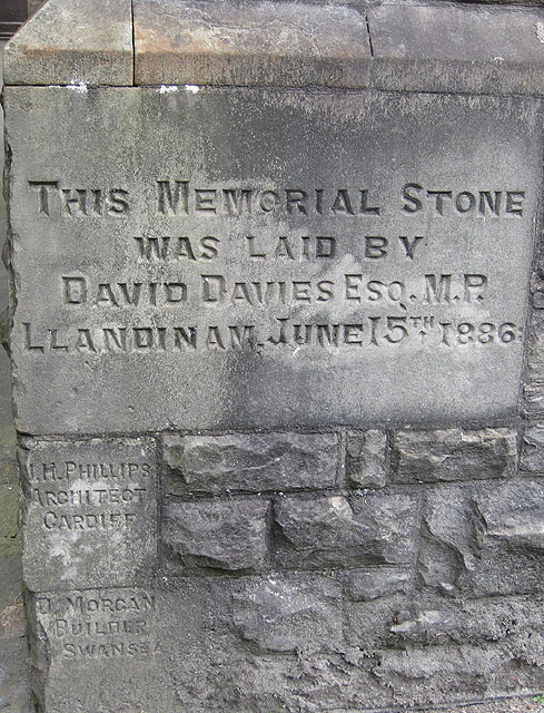 Memorial stone, Williams Pantycelyn Memorial Church