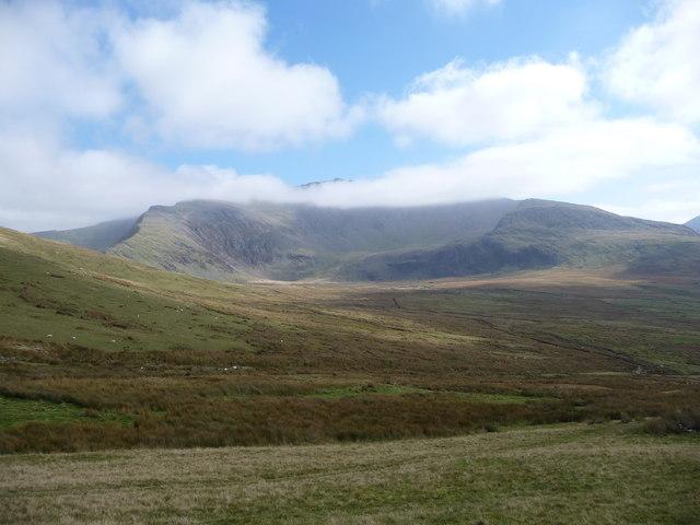 Snowdon's summit reveals itself through the cloud