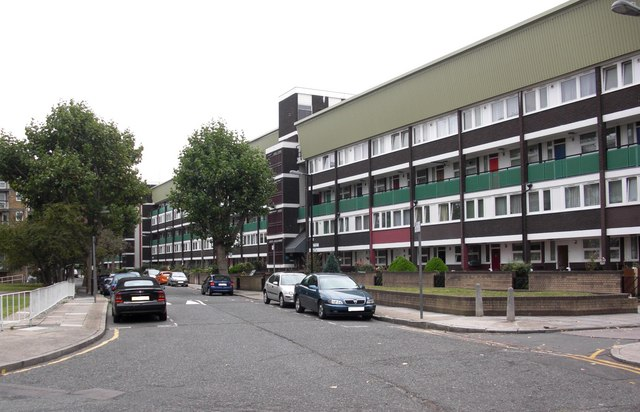 St Helena Road (part), Rotherhithe, London, SE16