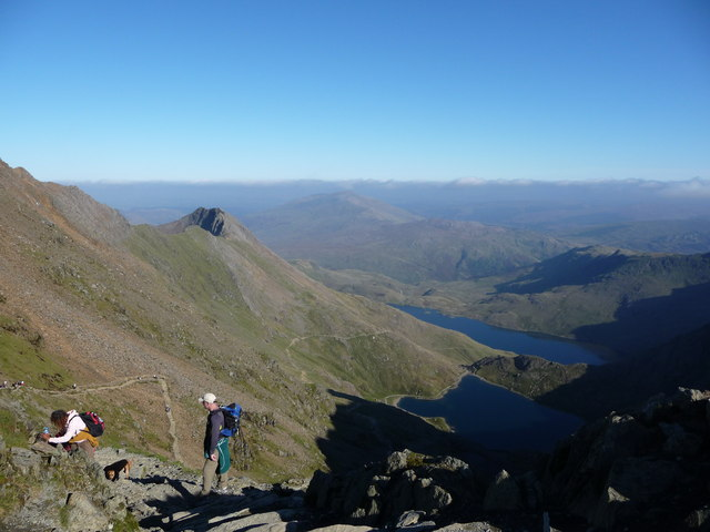 Crib Goch, the Pyg Track and Miners' Track from Bwlch Glas