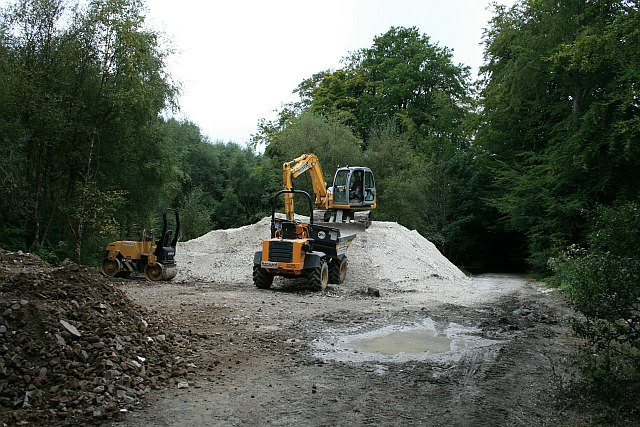 Works site on the Drove Road