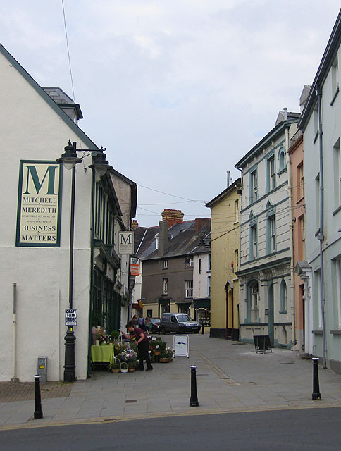 Approach to Market Street, Brecon