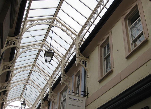 Glass roof of the arcade