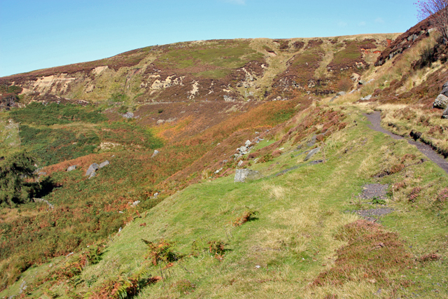 Embankment above Reeking Gill