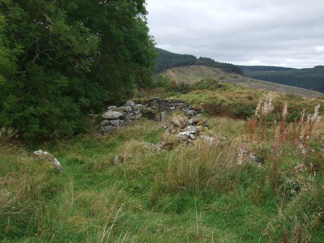 Ruins of a drovers inn Penmachno