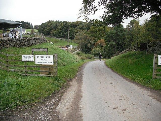 Road end, Baddinsgill