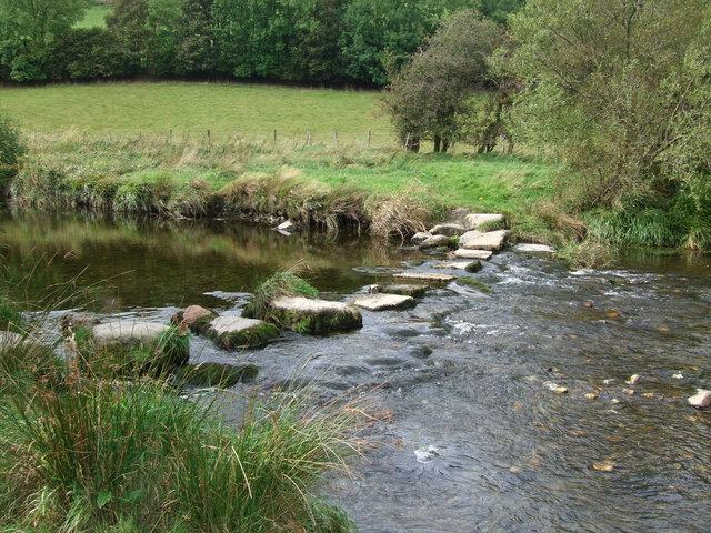 Stepping stones Afon  Machno Penmachno