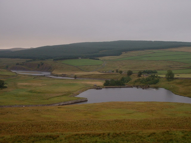From top of Dam looking towards Selset Weir