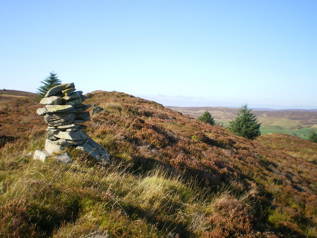 The cairn on the ridge