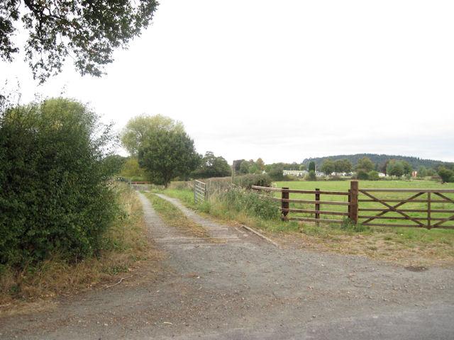 Farm track and footpath