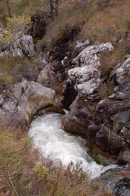Gorge in the Allt a' Chuirn