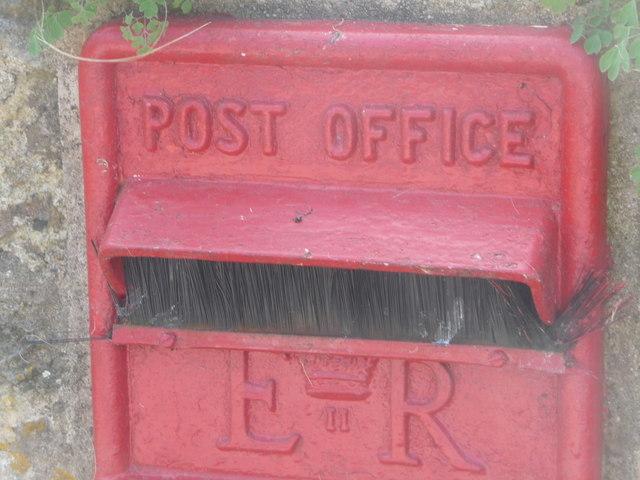Compton Abbas: postbox bristles