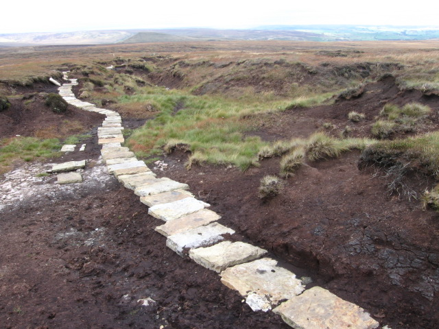 Footpath at Broadhead Moss on Wessenden Moor