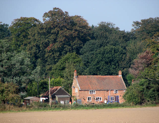 Cottage across the field
