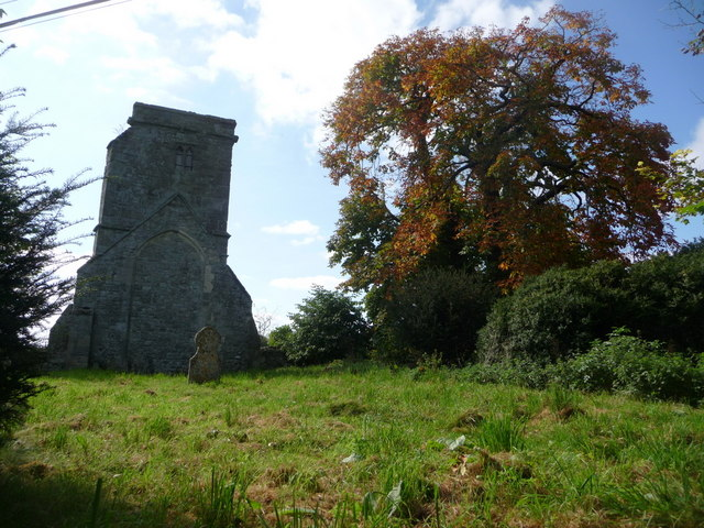 Compton Abbas: the old church as autumn colours begin to show