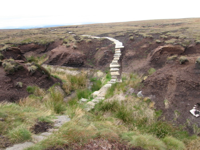 Footpath on Featherbed Moss towards Black Moss Reservoir