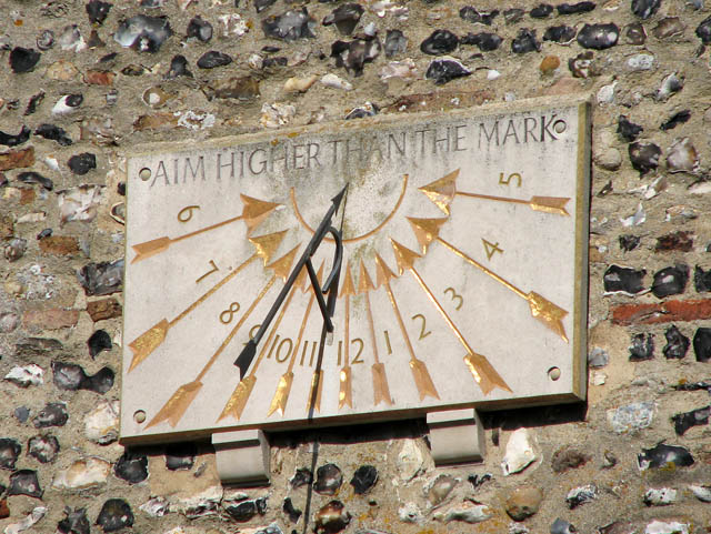 St Mary's church - sundial on south face of tower