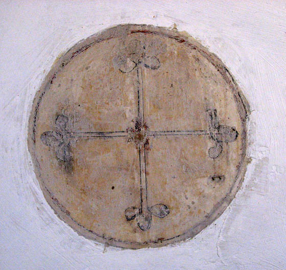 St Mary's church - consecration cross