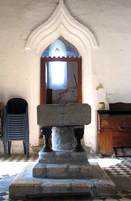 St Mary's church - C12 baptismal font