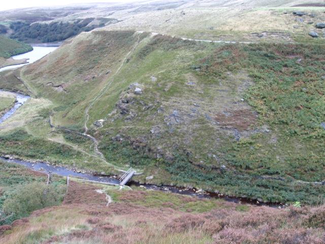 Pennine Way bridge over Wessenden Brook