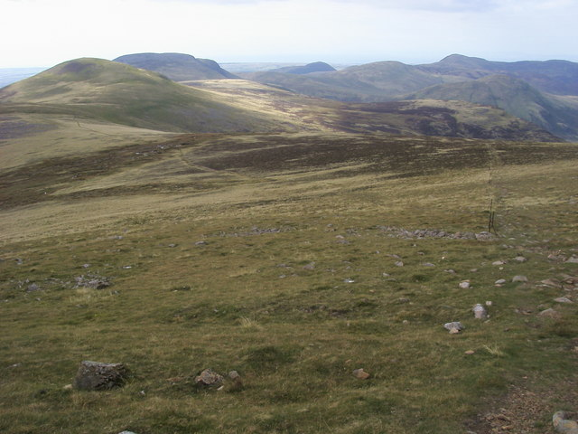 Footpaths on the fellside
