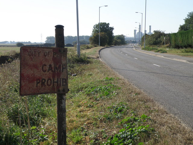 Camp prohib on Edgerly Drain Road