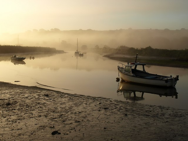 Mist on the Avon estuary
