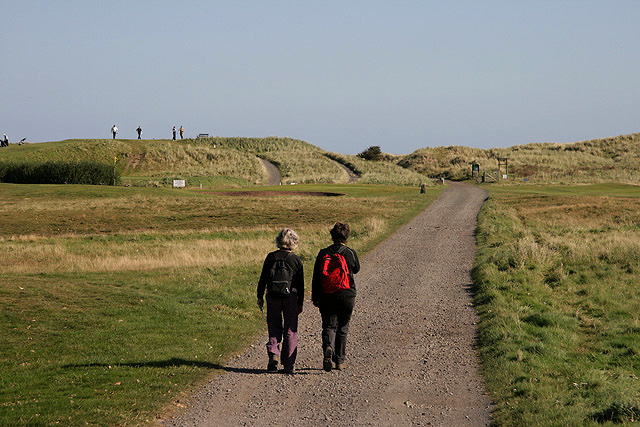 An access road at Goswick Golf Course
