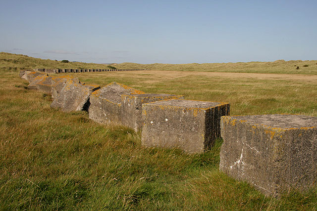 World War Two defences at Cheswick Links