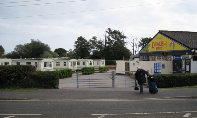 Dawlish Sands Holiday Park entrance