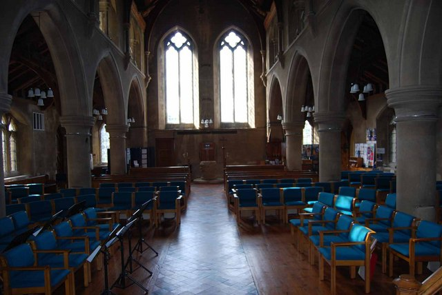 Interior of St. Mary's Church in Church Road (1)