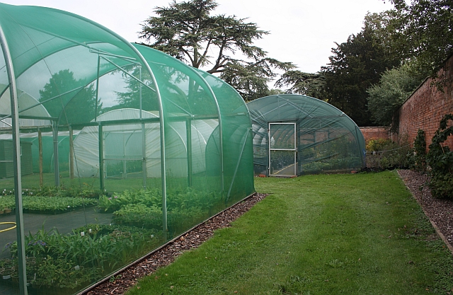 Netted enclosures, Hanbury Hall