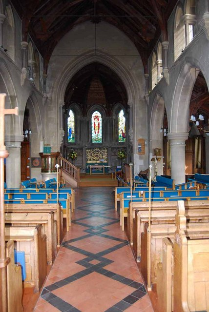 Interior of St. Mary's Church in Church Road (2)