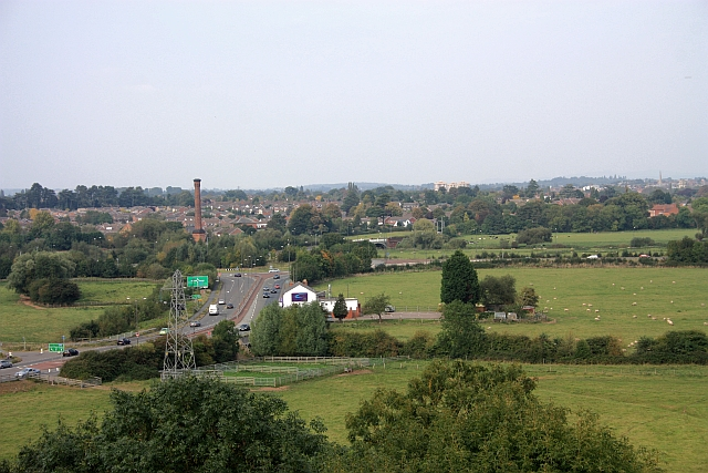 The A449 at Powick