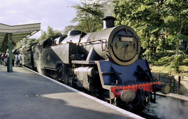 Engine 80104 at Swanage Station