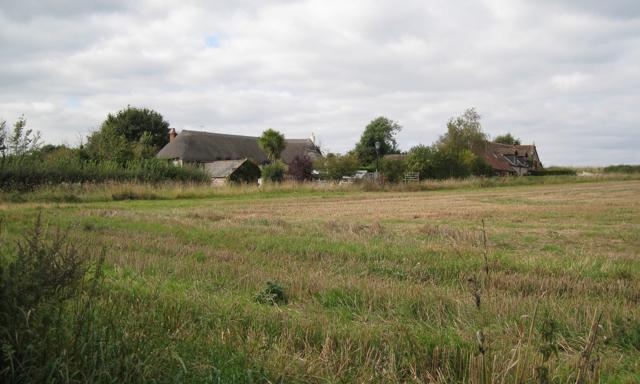 Houses near Shutterton Farm, off Shutterton Lane