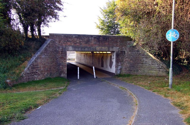 The cycle track underpass goes under the ring road in Long Lane