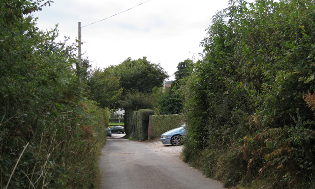 Shutterton Lane meets A379 Exeter Road, north of Dawlish