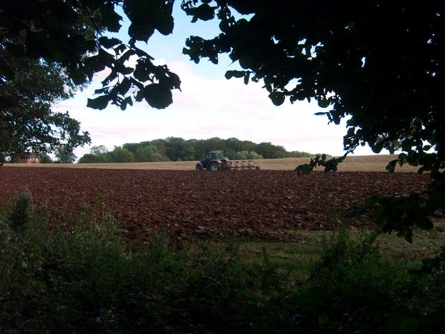 Ploughing next to the Staffordshire Way