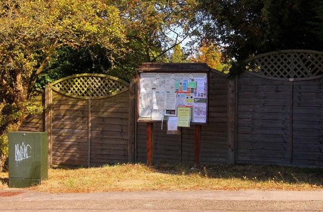 Cumnor Parish Council Information Board in Arnold's Way