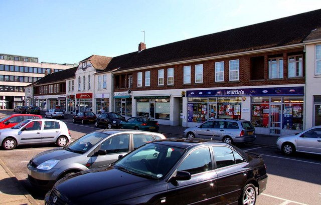 Elms Parade shops in West Way