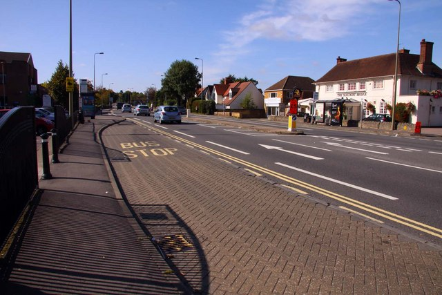 Bus stop on West Way