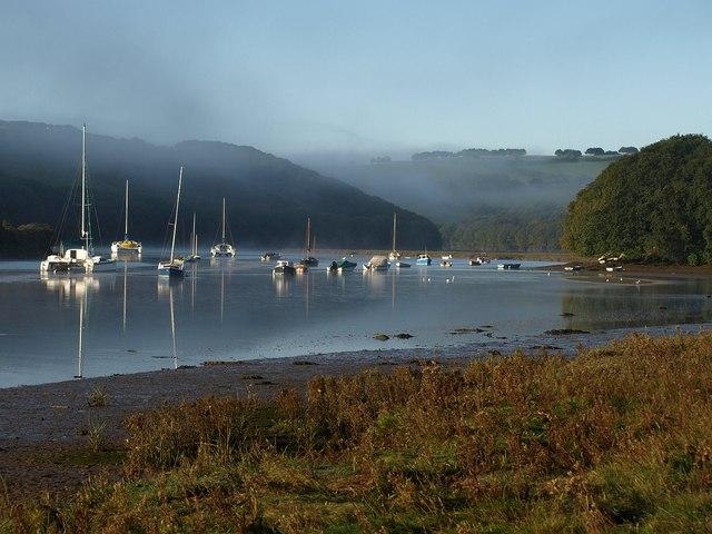 Boats on the Avon estuary