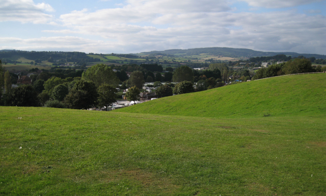 Camping ground above Lady's Mile holiday park