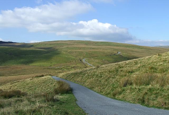 The road to Tregaron, Esgair Gelli, Ceredigion
