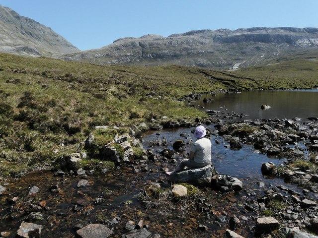 Outflow burn Loch Mhaolach-coire
