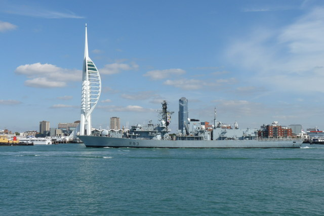 HMS St.Albans in Portsmouth Harbour